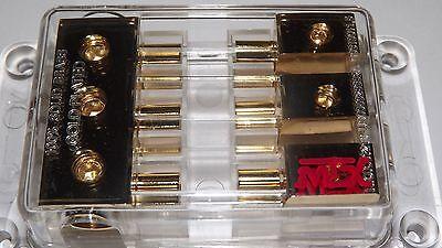 MTX THUNDERSTUFF FUSE BLOCK 3-position MAXI 3-4 gauge inputs, 3-8 gauge outputs