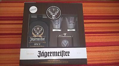 Jägermeister Spice 25% 1L + 2 Gläser + Flachmann