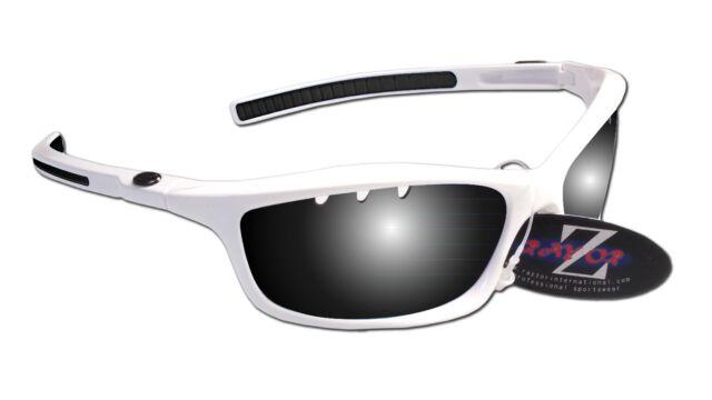 RayZor Uv400 White Sports Wrap Sunglasses Vented Smoked Mirror Lens RRP£49 (401)