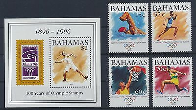 Bahamas 909/12+ Block 80 postfrisch / Olympiade (2106) .........................