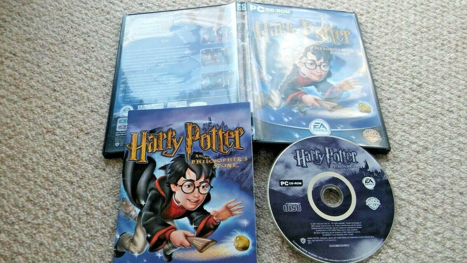 retro computer games - HARRY POTTER & The Philosopher's Stone PC CD ROM Computer Game 2001 Retro