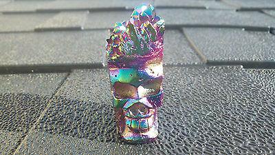Titanium Aura Crystal Skull