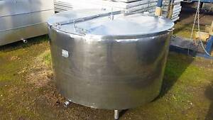 1350 lt stainless steel tank, milk vat, yogurt, wine, beer, brewi Timboon Corangamite Area Preview