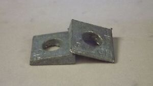 Beveled washers (10 each) , hot dip galvanized, 1/2