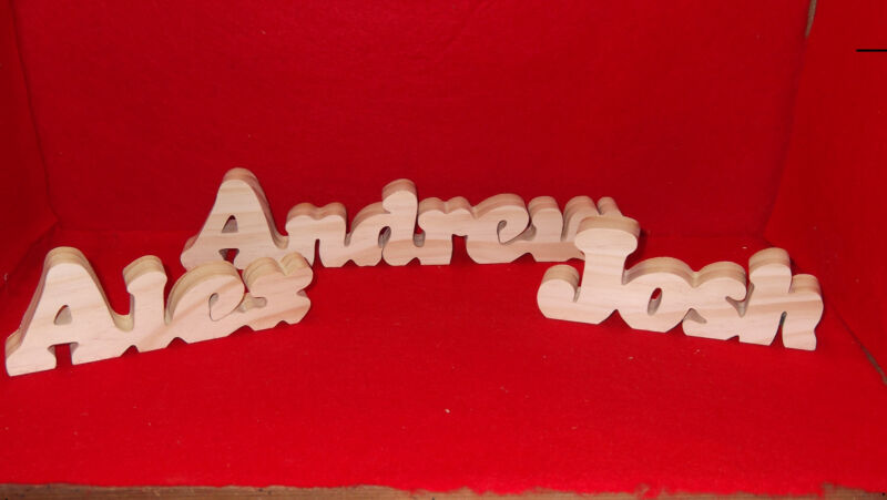Handcrafted Personalized Wood Name Plaques- $5.00 per name