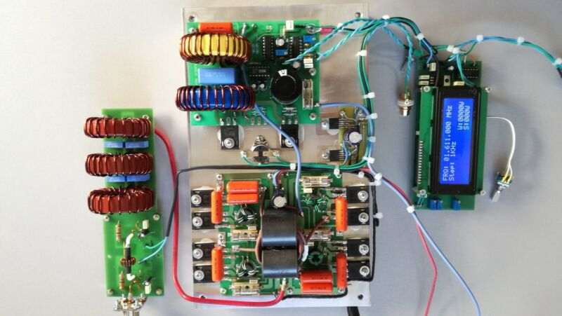 500 Watt PWM with DDS class D AM transmitter pallet.Assembled and tested.