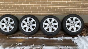 205/55 R16 Winter tires with BMW Mags