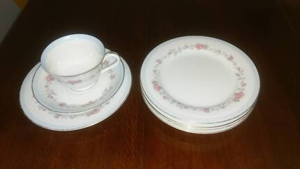 Noritake barossa vintage progression china set 36 pc pattern 9011 beautiful noritake china cup saucer and plate fandeluxe Images