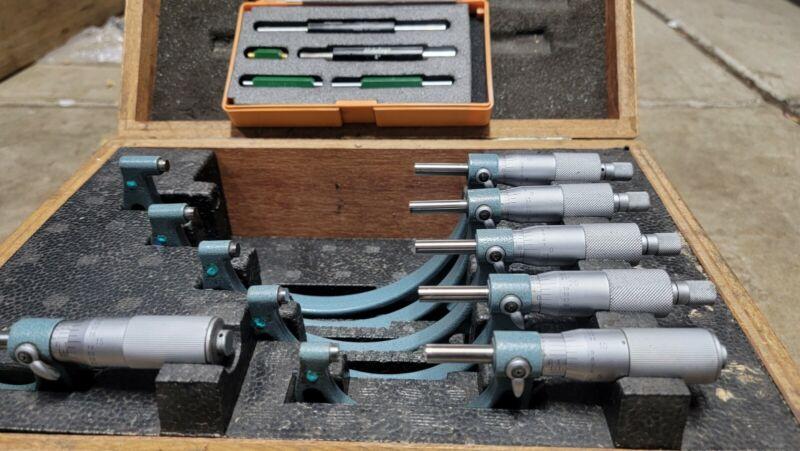 Mitutoyo micrometer set 0-6, 103-907 set, .0001 , standard
