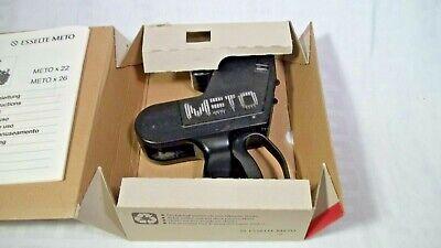 Meto 8505 1522 Pricing Gun 2-line Labeler Price Label Sticker Changer German