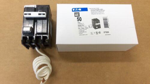 New EATON Cutler Hammer GFTCB 2 pole 50 amp GFTCB250 Circuit Breaker GFI GFCB