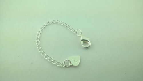 """2.5"""" Chain extenders 925 Sterling Silver Extencion for Necklace or bracelet."""