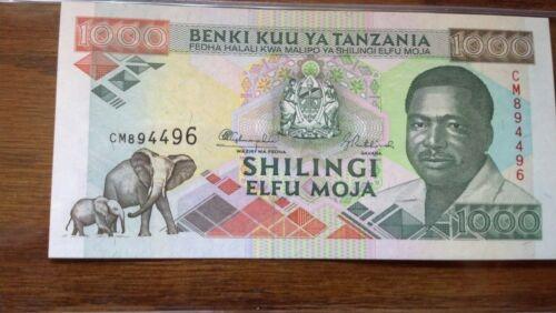 Tanzania 1,000 Shillings UNC