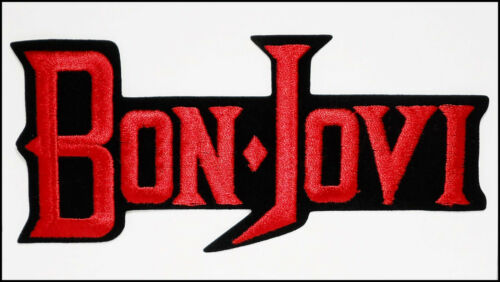 Bon Jovi Vintage Embroidered Iron-On Patch 9 x 4 inches