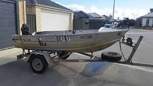 Quintrex boat - 3.55 meters w 15hp tiller + minn-kota Banksia Grove Wanneroo Area Preview