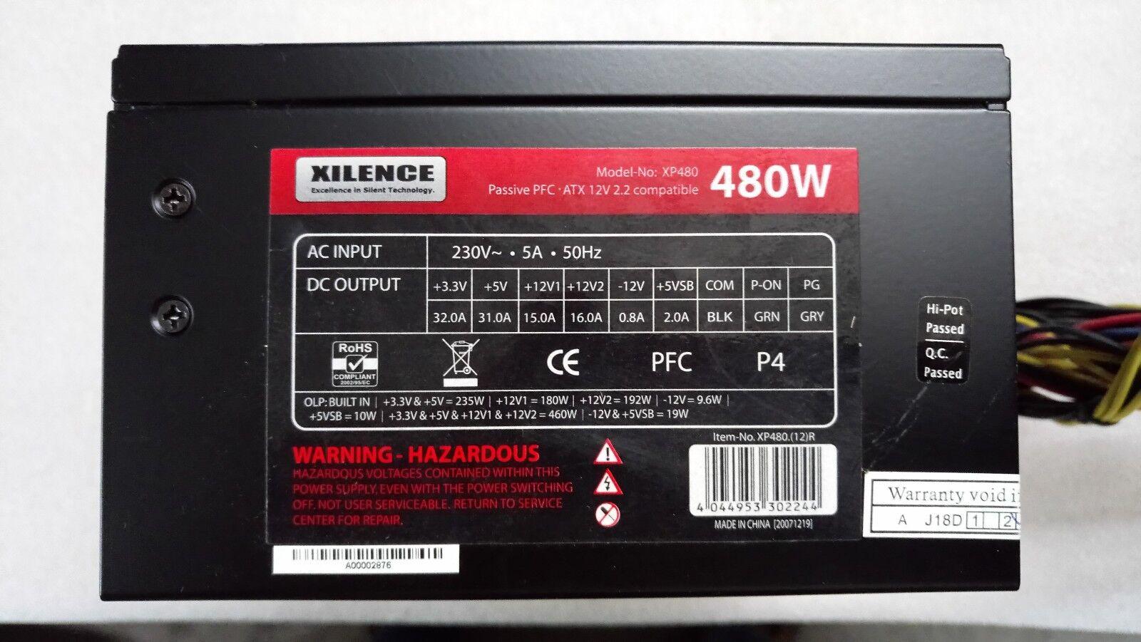 ✅alimentation pc atx xilence xp480 480watts