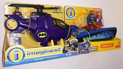 BATGIRL HELICOPTER and BATBOAT & FIGURES w Batman, Bonus Joker DC Imaginext MIP