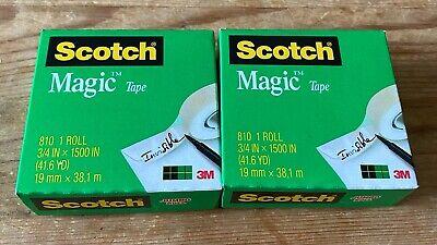 Scotch Magic Tape 810 Refill 34 In X 1500 In 2 Rolls Photo Safe