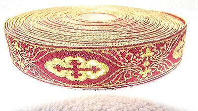 Roller Border Trim Gold Embroidery Traditional Costumes Approx. 25 Meter