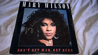 """SIGNED MARY WILSON DONT GET MAD GET EVEN/DUB MIX 12"""" VINYL SINGLE MOTOWN"""