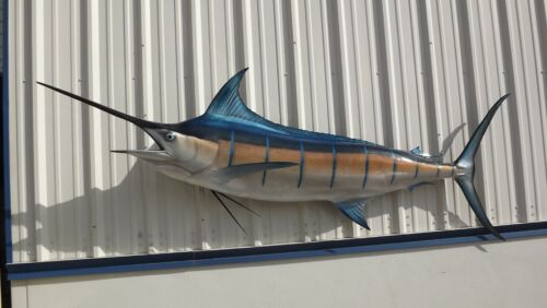 """110"""" Blue Marlin Two Sided Fish Mount Replica - 10 Business Day Production"""