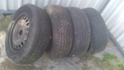 Holden Astra 4 x 195/60R15 Tyres on 4 Stud Standard Rims Cowra Cowra Area Preview