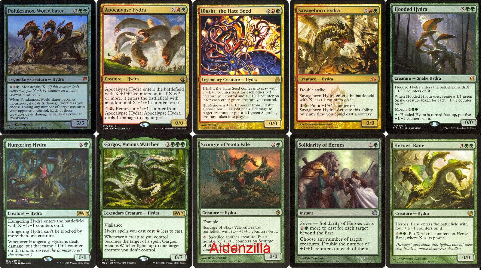 MTG Hydra Deck - Ulasht Polukranos Red Green - Magic Gathering - $34.00