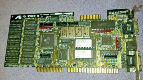 NEAR PERFECT!  ATI VGA WONDER-16 ISA Video Card P/N 109004800 circa 1988