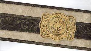 western belt buckle wallpaper border ws6026b ebay