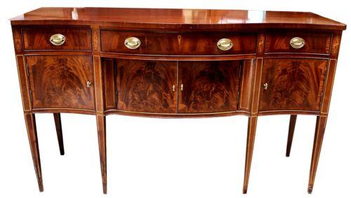 Vintage Hickory Chair Co. Mahogany & Satinwood Inlay Sideboard
