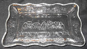 Clear Glass Relish Tray