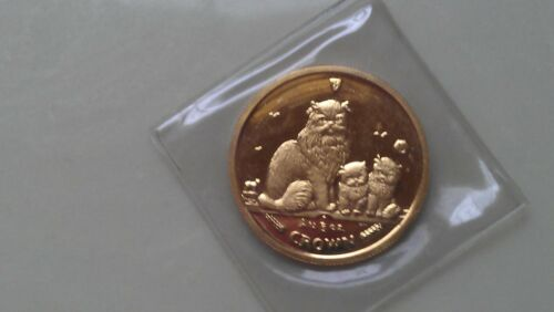 2005 Isle of Man Cat 1/5 oz. GOLD HIMALAYAN CAT COIN - POBJOY MINT SEALED