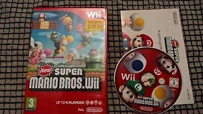 Nintendo Wii new super mario bros wii no manual