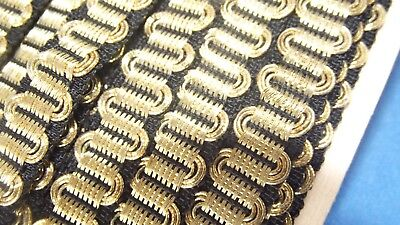 Antique Traditional Costumes Border Trim Wire Braid Gold Embroidery 9 Meter x 15