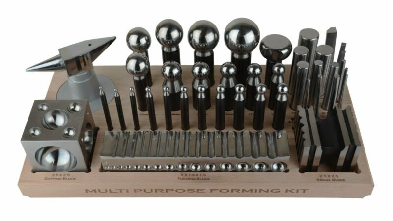 Steel Multi-Purpose Dapping Punch Anvil Block Swage Jewelry Making Metal Forming