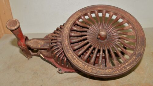 Rare cast iron victorian kitchen well pump crank collectible early tool wheel