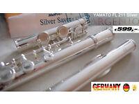 Kinder Querflöte 2 heads Silver Flute Child Flûte enfants Flauta niños plata