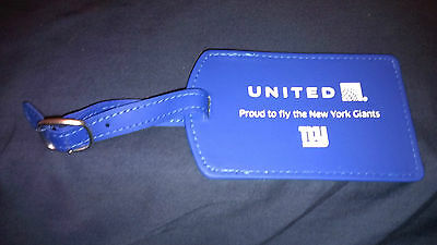 New York Giants United Airlines Luggage Tag Metlife Stadium Giveaway Very Rare