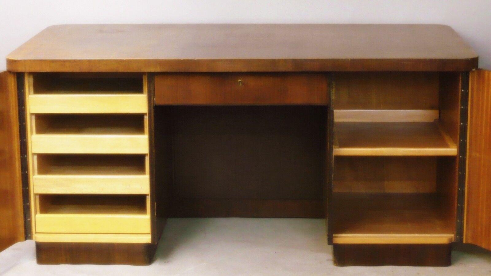 schreibtisch art deco bauhaus palisander frei stellbar. Black Bedroom Furniture Sets. Home Design Ideas