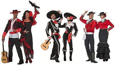 Flamenco Kleid Kostüme (Flamenco Kostüm Kleid Mexikaner Mexikanerin Spanierin Seniora Spanier Seniorita)