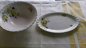 Floral bowl and plate platter small Narangba Caboolture Area Preview