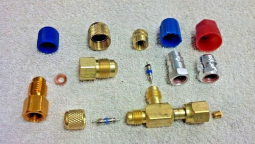 VACUUM PUMP, UNIVERSAL INLET ADAPTER TEE KIT, EVERYTHING YOU NEED TO ADAPT.