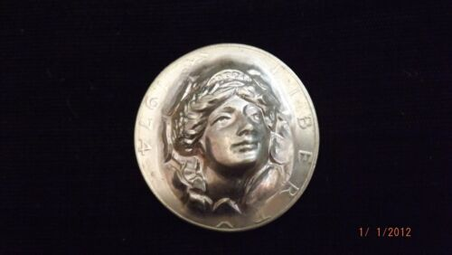 1974 US Pop Out Repousse LADY LIBERTY DOLLAR
