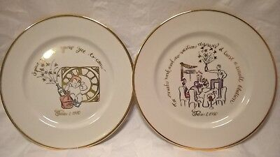 Rosanna Italy New Year's Eve by decade collector plates 1910 and - New Year Plates