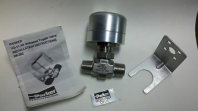 Parker Air Actuated Toggle Valve 6m-v6lq-11ao-ss Free Shipping
