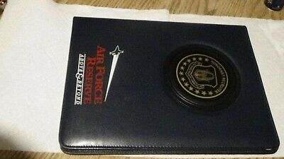 Honorary Air Force Recuiter Vinyl Folder W Non Working Solar Calculator