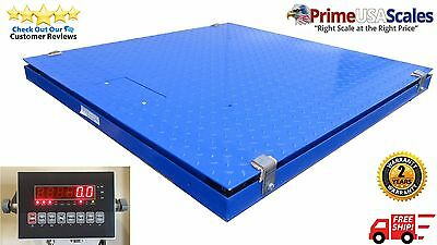 10000 Lb X 2 Lb Ntep Legal For Trade Optima 4 X 4 Floor Scale Pit Frame