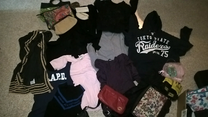 Big lot of clothing and bags