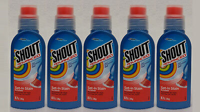 Shout Advanced Gel (5 Shout Advanced Set-In Stain Scrubber Laundry Stain Remover Ultra Concentra)