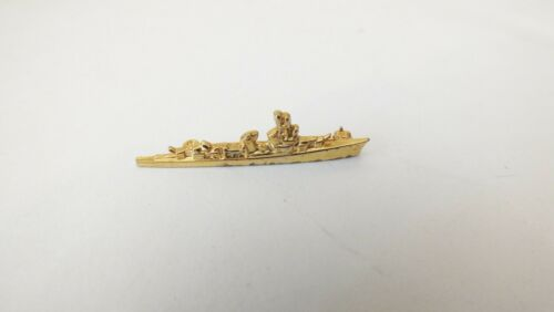 "Navy Battleship Lapel Pin Gold Color - Clasp Back - Very Nice 1"" Wide"